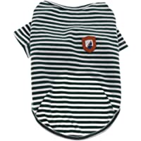 MagiDeal Dog Shirts Striped Dog T-Shirts Cotton Puppy Clothes Small Medium Large Dogs