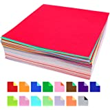 """500 Count Origami Paper, 30 Vivid Colors, Different Colors on Either Side, 6"""" Square Sheets for Arts and Crafts by Tenby Living"""