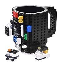 KYONNE Build-on Brick Mug, Building Blocks Coffee Cup, Unique Christmas Gift Idea
