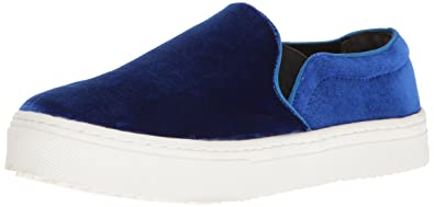 0a7ef4ad9a09 Sam Edelman Women s Lacey Fashion Sneaker Blue Velvet 6 ...