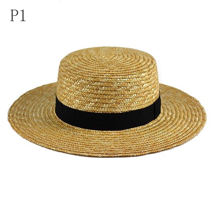 7568dd84 Women Wide Brim Straw Hat Fashion Chapeau Paille Summer Lady Sun ...