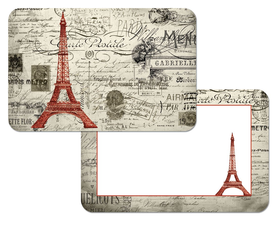 Amazon: French Eiffel Tower Reversible Washable Vinyl Placemats Set Of  Four: Home & Kitchen