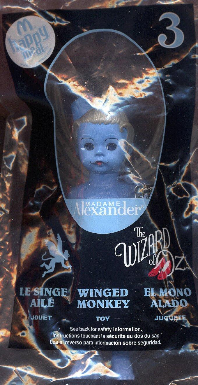 McDonalds 2008 HappyMeal Wizard of Oz Madame Alexander New Doll #3 Winged Monkey