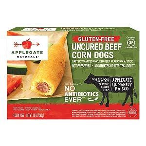 Applegate, Natural Gluten-Free Corn Dogs, 10oz (Frozen)