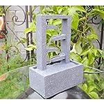 SereneLife SLTWF40 - Fuente de Agua Decorativa de 4 Niveles para Uso en Interior y al Aire Libre, portátil, eléctrica, de...