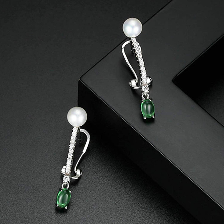 Dangle Earrings for Women Zircon Pearl Emerald Tassel Earring Girls White Wedding Gifts Aooaz Jewelery