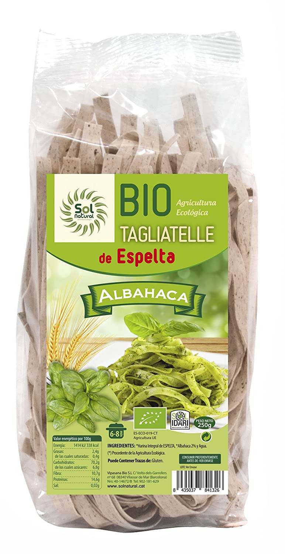 Sol Natural Tagliatelle de Espelta con Albahaca - Paquete de 10 x 250 gr - Total: 2500 gr: Amazon.es: Alimentación y bebidas