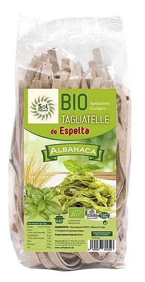 Sol Natural Tagliatelle de Espelta con Albahaca - Paquete de 10 x 250 gr - Total