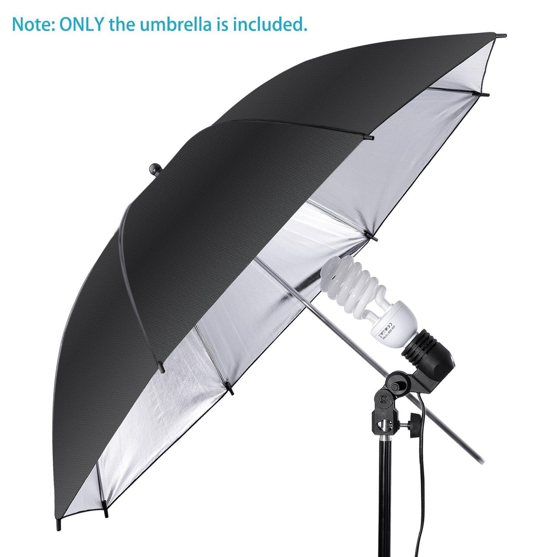Neewer Photography Black/Sliver Lighting Umbrella Reflector - Light  Diffuser and Modifier for Monolight Flash for Photo Studio Shooting (43
