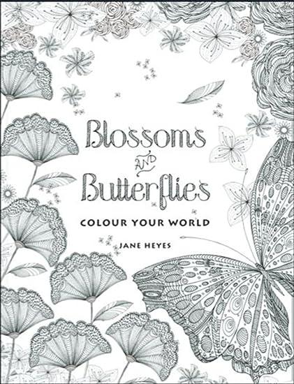 Amazon Com Colour Your World Blossoms Butterflies Adult