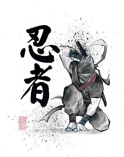 8x10 PRINT of Ninja Japanese Calligraphy NINJA
