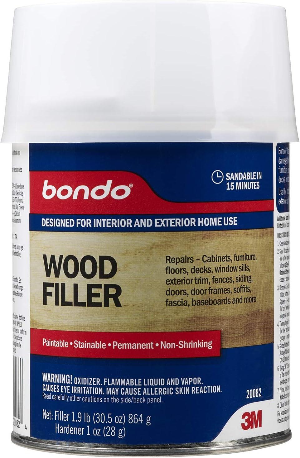 B0007ZG9T4 Bondo 20082, Quart Home Solutions Wood Filler 71h37fUFPQL