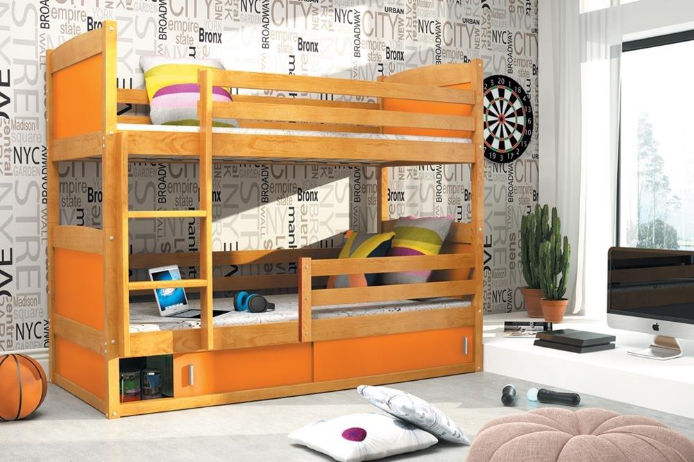 Etagenbett Hochbett Rico : Kinderbett etagenbett hochbett rico farbe erle massiv