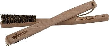 Mantle - Cepillo de escalada de madera Albarracina para mangos más pequeños, ranuras y agujeros en pack de 1 y 2 unidades