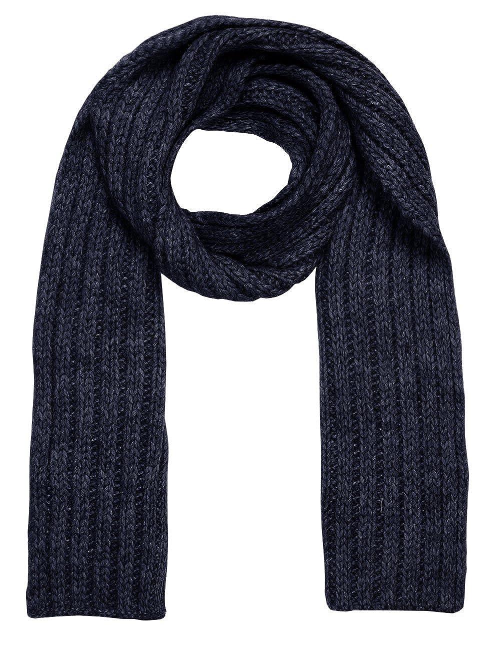 maximo Boy's Schal, Grobstrick, Einfarbig Scarf Blue (Navy 48) 23674-192300