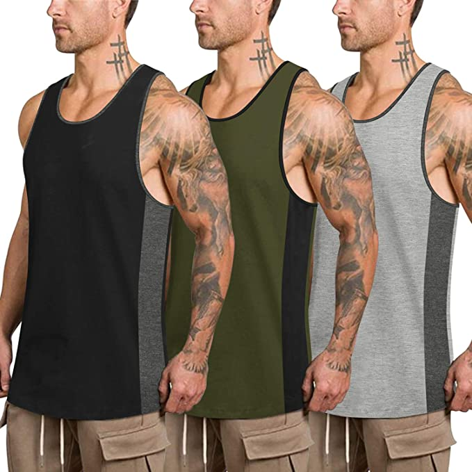 Hot Mens Tank Tops Gyms Bodybuilding Fitness Muscle Sleeveless T-Shirt Top Vest