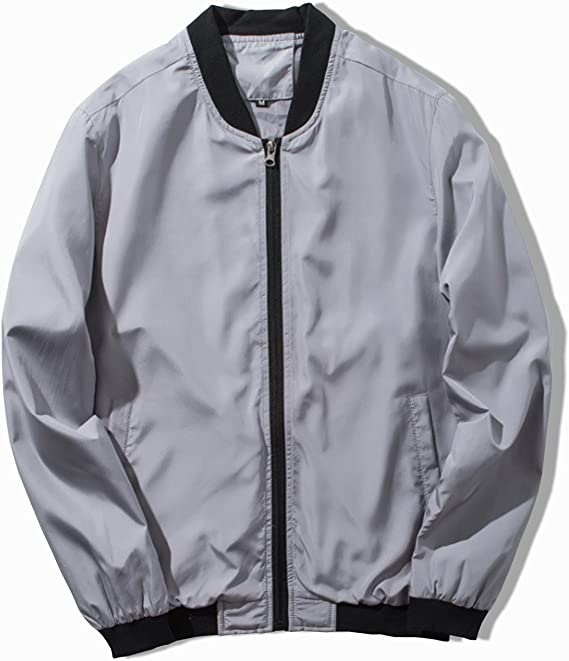 Amazon | KMAZN メンズ ジャケット 防風 薄手 長袖 ブルゾン ...