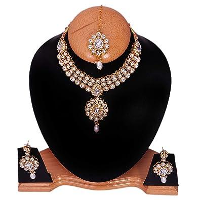 8f36cce47b Buy Victoria Elegant 18k Gold Plated True Diamond Choker Set with ...
