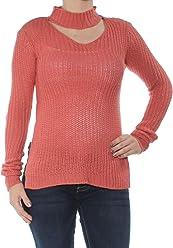 2b443a7bb0 Planet Gold  44 Womens New 1354 Coral Choker Cut Out Knit Sweater XS Juniors  B+