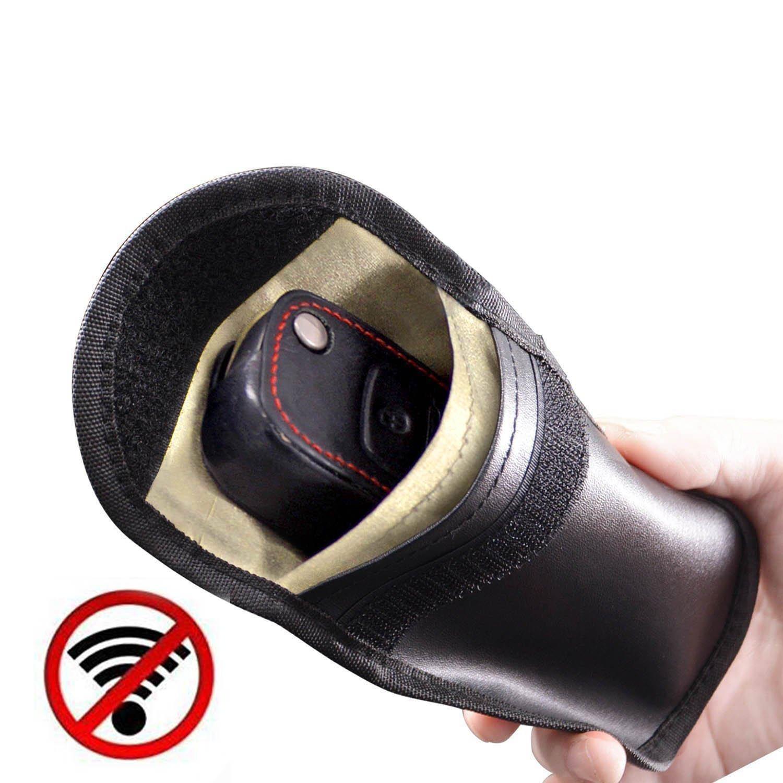 Ctbd Funda para Llave de Coche sin Llave con Bloqueo para Proteger Dispositivos antirrobo bloqueando Tarjetas de Cr/édito y Cualquier Se/ñal de WiFi//gsm//LTE//NFC//RFID