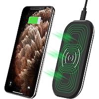 CHOETECH Cargador Inalámbrico Rápido, 3 Bobinas Qi Cargador Fast Wireless Charger 10W para Samsung S9+/ S9/ S8/Note8/S7 Edge/Note5, 7.5 W para iPhone XS/XS MAX/XR/X/8 Plus/8 y 5W Teléfonos Qi-Enabled