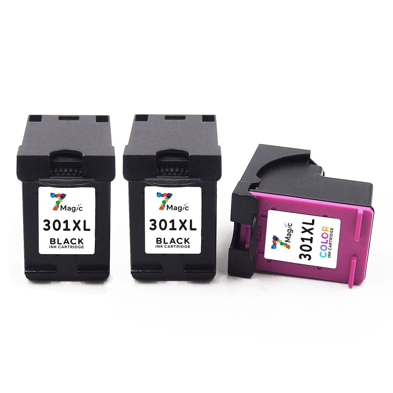 Cartucho Tinta HP 301 XL (CH563E) Compatible con HP Deskjet 1000 1010 1015 1050 3510 3511 3512 3516 2620 2622 4630 4632 4634 4635, 2 Negro y 1 ...
