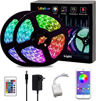 5M 5050 RGB LED Strip Lights Colour Changing tape Under Cabinet Kitchen TV Party