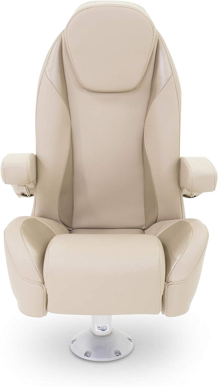 B076PQFMT6 Taylor Made 433097 Platinum Series Furniture Dove Grey High Back Recliner Pontoon Helm Seat with Flip-Up Bolster 710lJGUnq-L.SL1500_