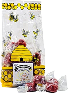 product image for Queen Bee Gardens Natural Honey Caramel Pralines Candy Chews – 5.87 oz – Strawberry Lemonade