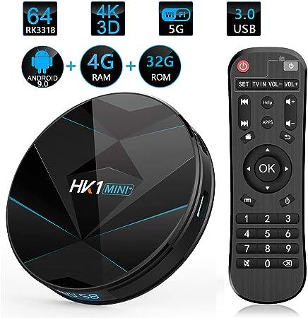 GWX Smart Set Top Box, Android TV Box, WiFi BT con Mando a Distancia por Infrarrojos para Cine en casa Viendo televisión y Jugando Juegos,4g+32g: Amazon.es: Hogar