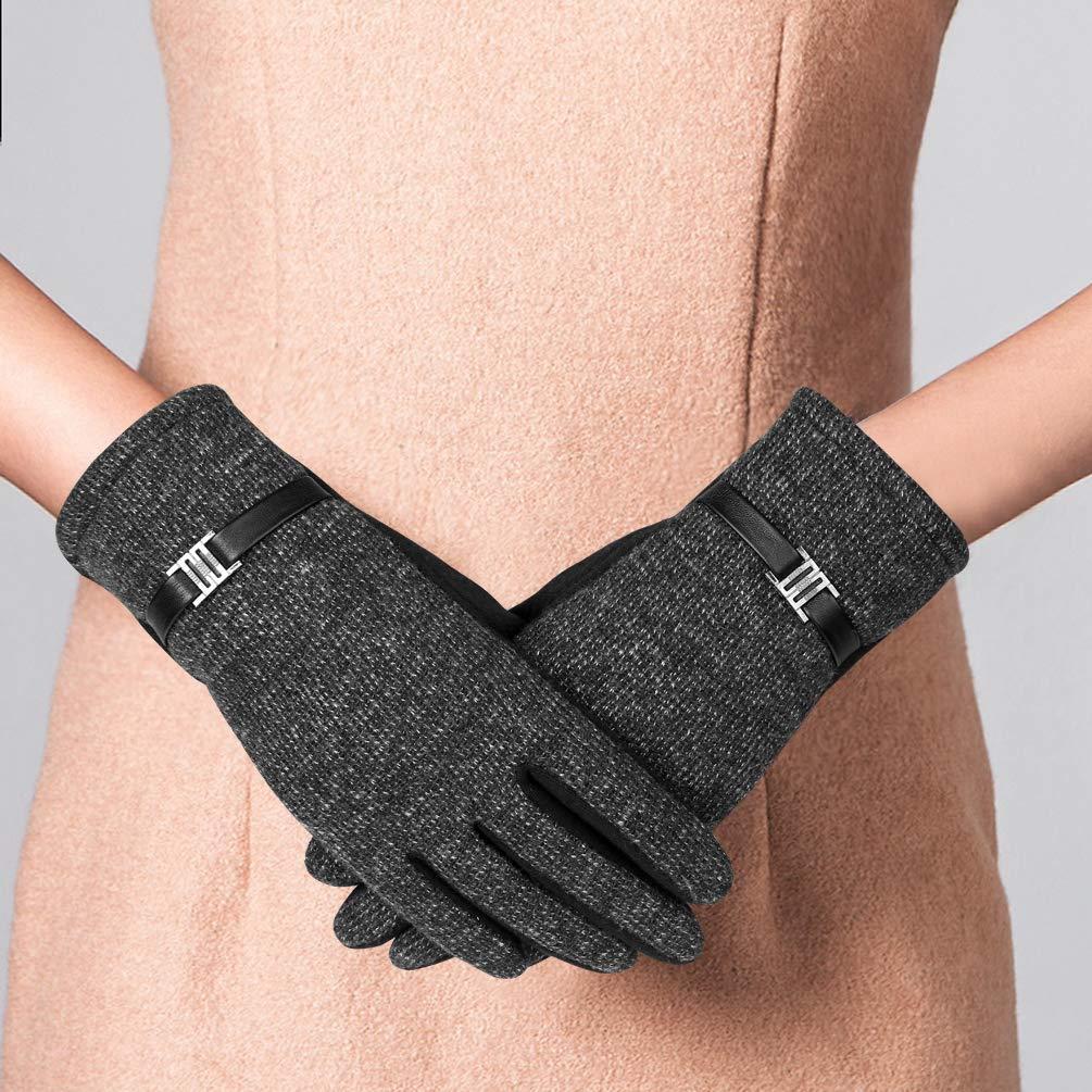 VBIGER Guantes Termicos Guantes Pantalla Tactil Deportes al Aire Libre Otoño e Invierno para Mujer