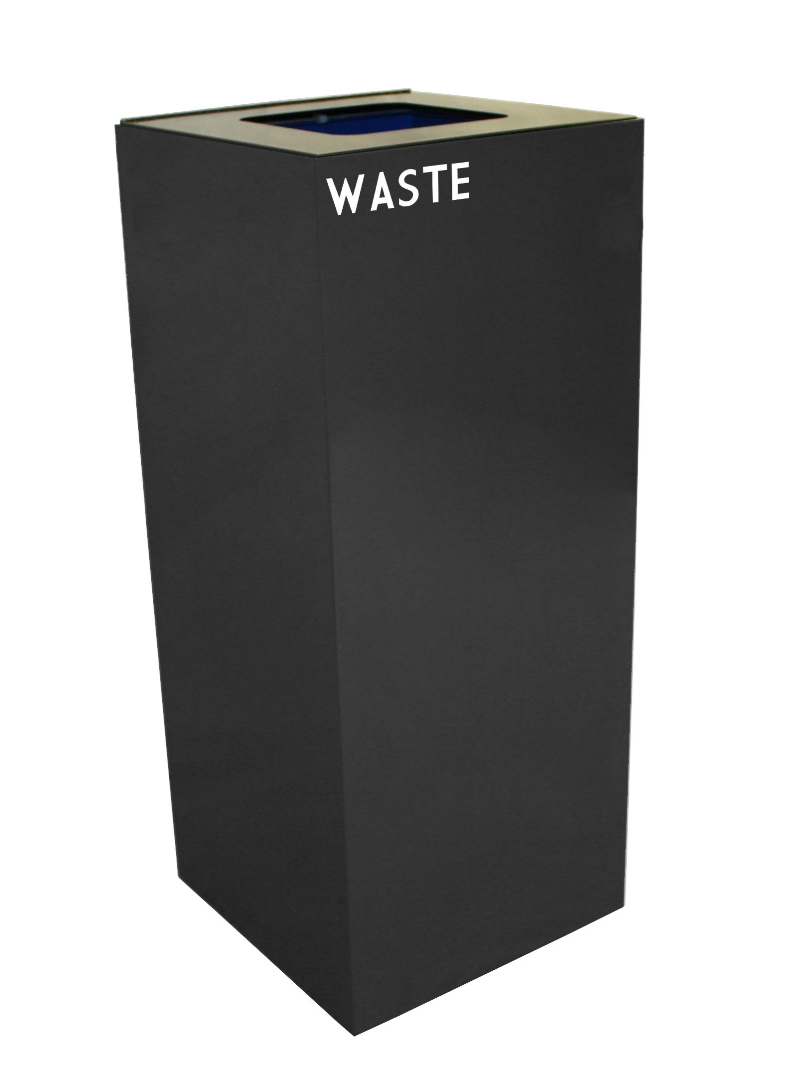Witt Industries 36GC03-CB GeoCube Recycling Receptacle with Waste Opening, Steel, 36 gal, Charcoal