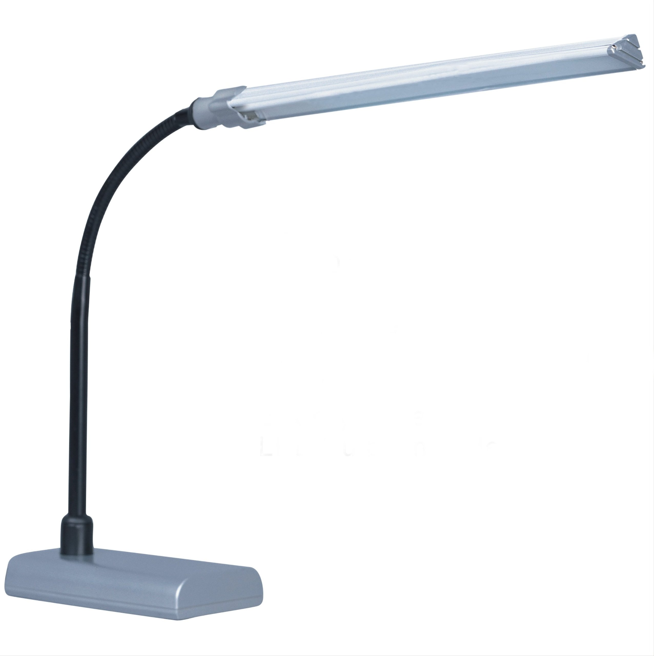 Park Madison Lighting PMD-3701-60 LED Desk Lamp with Fully Adjustable Gooseneck Column, 16'' x 12'' x 12'', Metallic Silver Finish