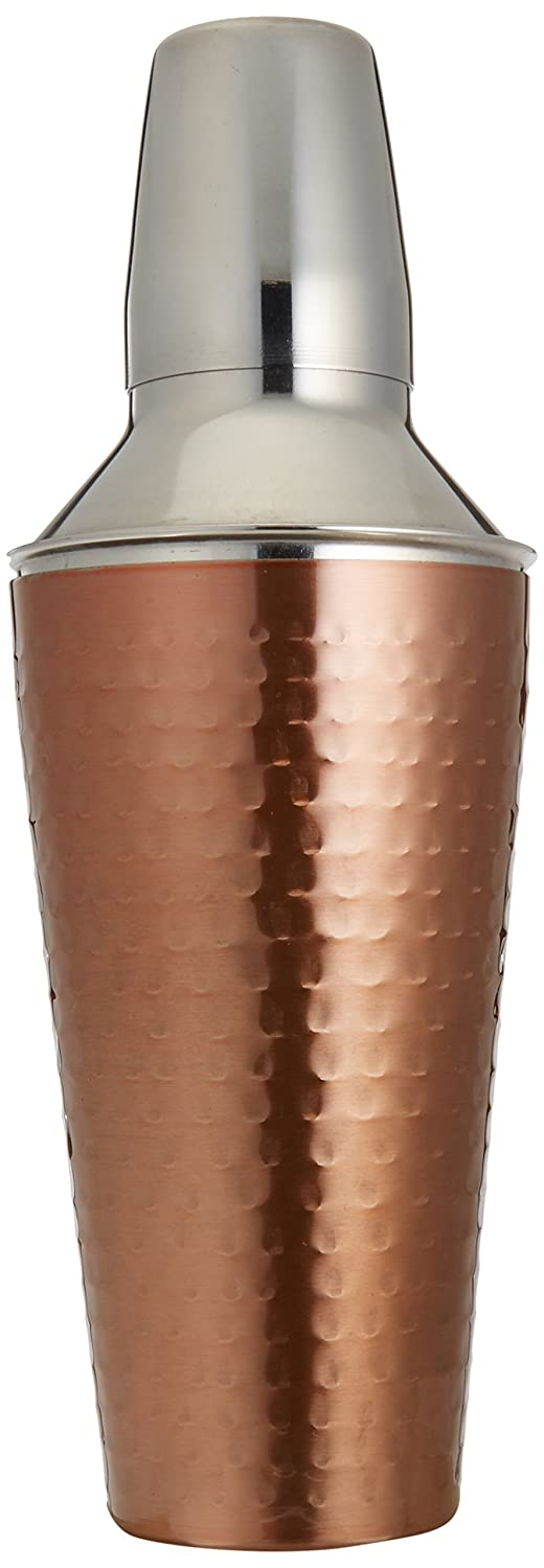 Cook Pro Inc. 3Piece 27 oz Stainless Steel Cocktail Mixer, Copper 199