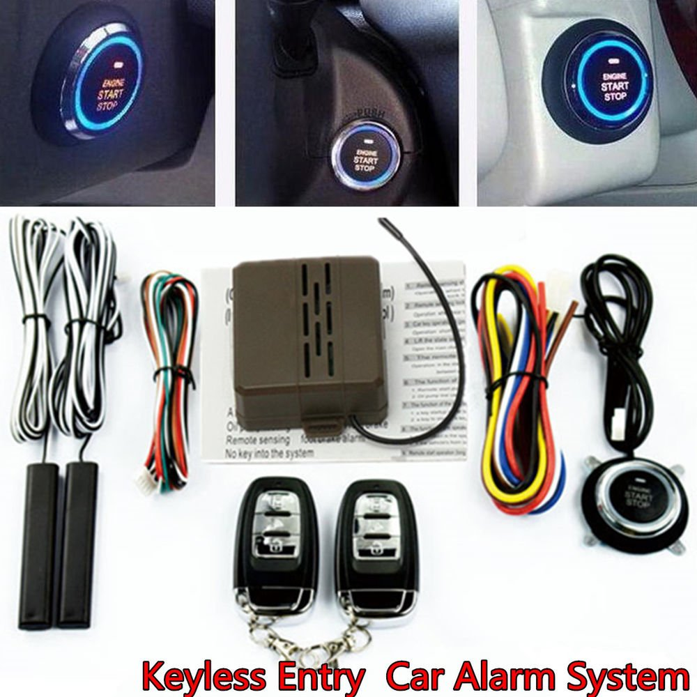Adoner Car Auto SUV Alarm System Security Keyless Entry Push Button Remote Engine Start