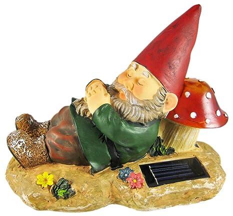Sleeping Garden Gnome Solar Powered Accent Light