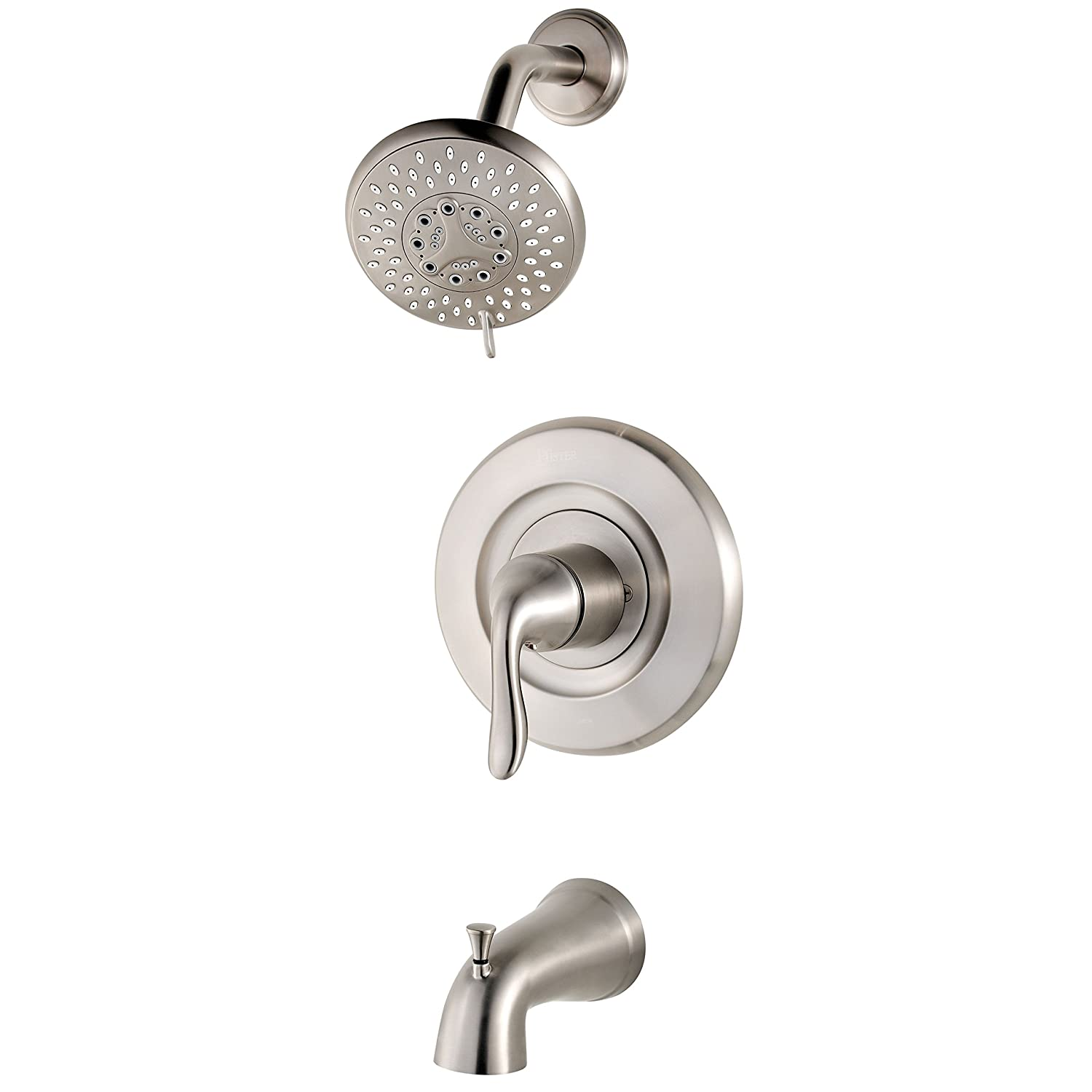 Pfister R90TN2K Universal 1-Handle Tub & Shower Trim, Brushed ...