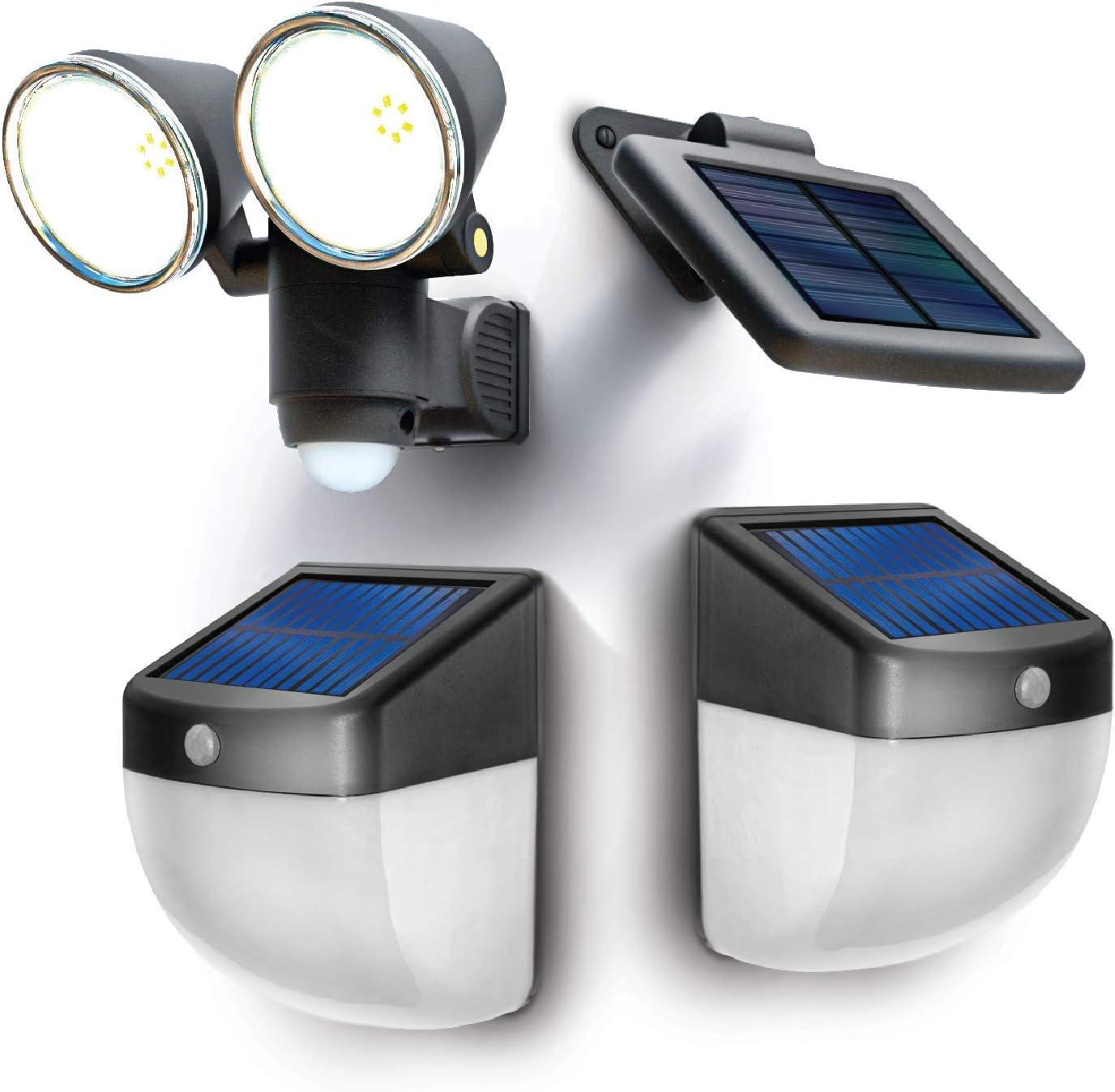 Home Zone Security Solar Wall Lights - Intelligent Solar Linkable Solar Motion Sensor Wall Lights (1-Set)