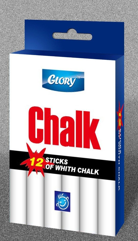 Glory 1863554 Count of 12 White Chalk - Case of 288