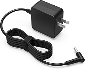 45W AC Charger Fit for HP 15-da0014dx 15-da0012dx 15-da0020nr 15-da0030nr 15-da0031nr 15-da0032nr 15-da0032wm 15-da0033wm 15-da0047nr 15-da0073ms 15-da0086od Laptop Power Supply Adapter Cord