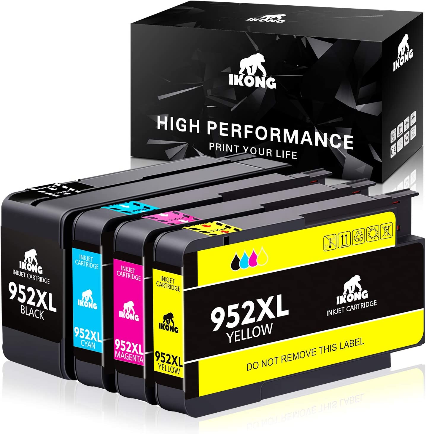 IKONG Compatible Ink Cartridge Replacement for HP 952 XL 952XL use with OfficeJet Pro 8710 8720 8740 8730 7740 8210 8715 8216 8725 8702 Printer 4-Pack