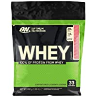 Optimum Nutrition ON Whey Whey Protein Powder Low Sugar Whey Protein Shake by ON - Strawberry, 33 Servings, 891g