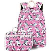 Backpack for Girls, CAMTOP Preschool Backpack with Lunch Box Toddler Kids School Bag Set (Pink-2)