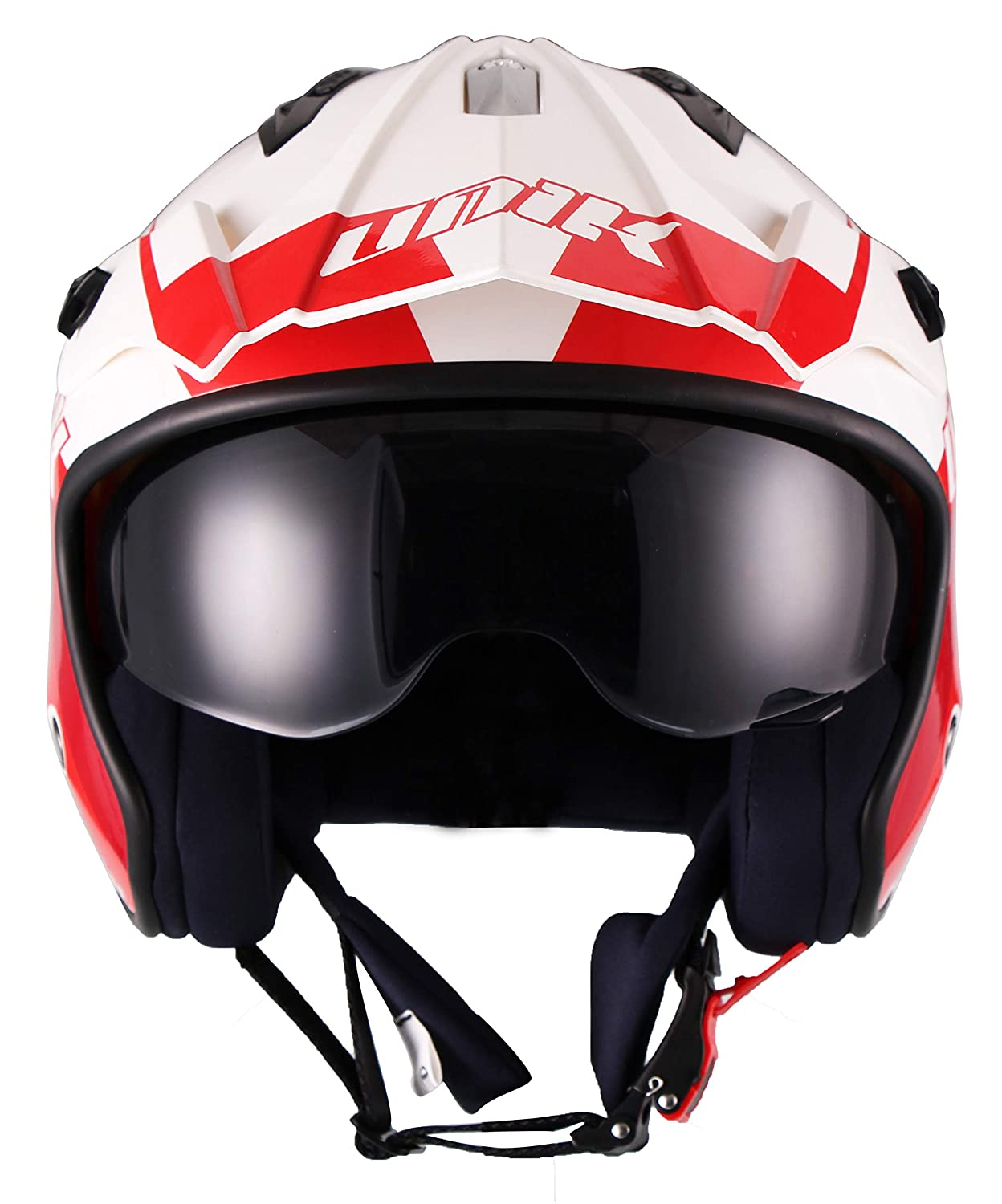Unik Casque Jet Trial Ouvert Ct 07 R Graff Blancrougegris