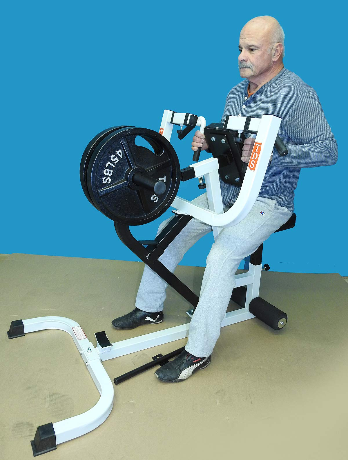 TDS Super Seated Row Unit Built with Industrial Grade Pillow Block Bearings, Deluxe Padding and 4 Way Hand Grips