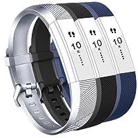 Vancle Bracelet pour Fitbit Alta HR, Fitbit Alta Bracelets TPU Silicone Souple Sangle de Remplacement Reglables Sport Accessorie pour Fitbit Alta Fitbit Alta HR Fitness Wristband