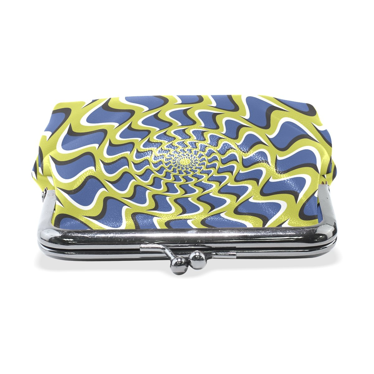 Coin Purse Colorful Ring Grid Wallet Buckle Clutch Handbag For Women Girls Gift