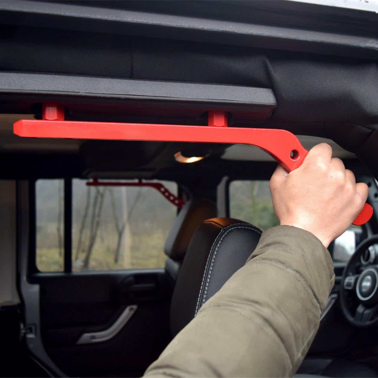 Black Pair AMERICAN MODIFIED Jeep Wrangler Grab Bar Grab Handle Door Handle Rear Grab Handle Jeep Wrangler Accessories JK JKU /& Unlimited Rubicon Sahara Sports 2007-2018,New Aluminum