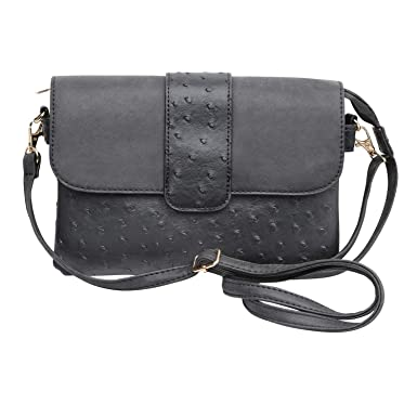 606d515b39a6 22 Tote Women s Vegan Ostrich Leather Crossbody Bag Purse Handbag - Black