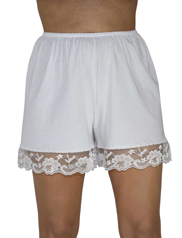 Underworks Pettipants Cotton Knit Culotte Slip Bloomers Split Skirt 4-inch Inseam